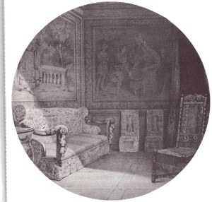 Diane's bedchamber in the Chateau de Ganges.